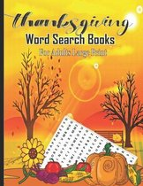 Thanksgiving Word Search Books For Adults Large Print