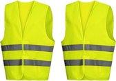 Doodadeals® Veiligheidshesje Volwassenen - 2 Stuks – Geel - Veiligheidshesjes Auto - Reflecterend Hesje