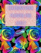 Coloring Book Flower for Adult
