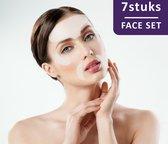 Simia™ Anti Rimpel Beauty Pads - Face Set (7 Stuks) - Voorhoofd Mond & Ogen - Herbruikbaar anti aging siliconen pad tegen lijntjes en rimpels