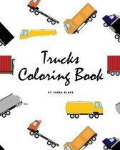 Trucks Coloring Book for Children (8x10 Coloring Book / Activity Book)