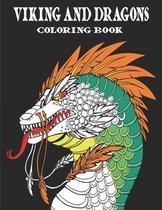 Viking and Dragons Coloring Book