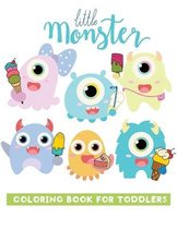 little monster coloring book for toddlers