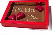 Broekmans Patisserie Chocolade kaart Hou van jou
