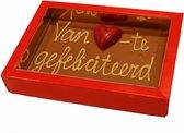 Broekmans Patisserie Chocolade kaart van harte gefeliciteerd