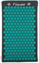 Flowee Spijkermat ECO – Grijs met Zeegroen - 75cm x 45cm – Kokosvulling - Acupressuur mat – Acupressure mat