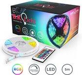 B.K.Licht - LED strip - 5 meter - IP44 - afstandsbediening - RGB - zelfklevend