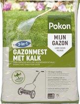 Pokon Gazonmest met Kalk 3-in-1 - Voor 75m2