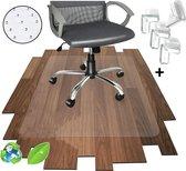 Luxergoods bureaustoelmat PVC -  NIEUW met GRIPTANDJES - Alleen voor Tapijt! - 90x120 cm-  - Vloermat - Vloerbeschermer