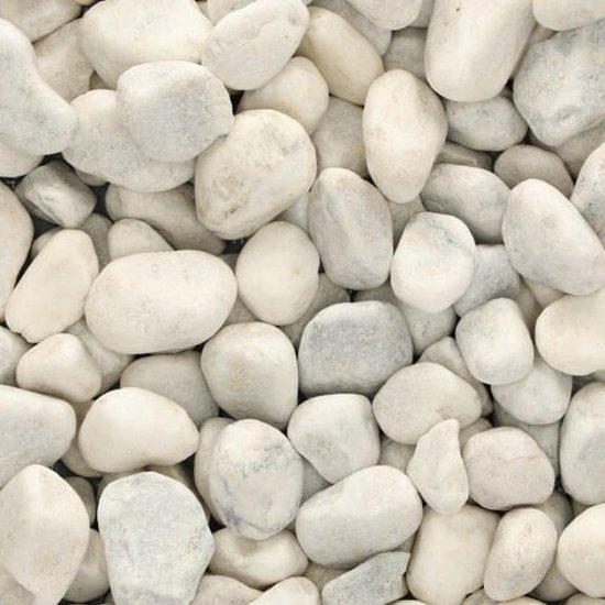 Happy Stones - Carrara rond Wit 40-60 mm - Zak 25kg - Stenen - Grind - Sierkeien - Keien