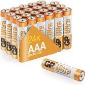 GP Ultra Alkaline AAA batterijen - Mega Voordeelpak - 24 stuks ( LR03 - Potlood - Micro batterij )
