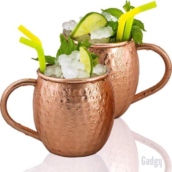 Gadgy Moscow Mule bekers 100% koper - set van 2 st. – cocktailbekers - 500ml