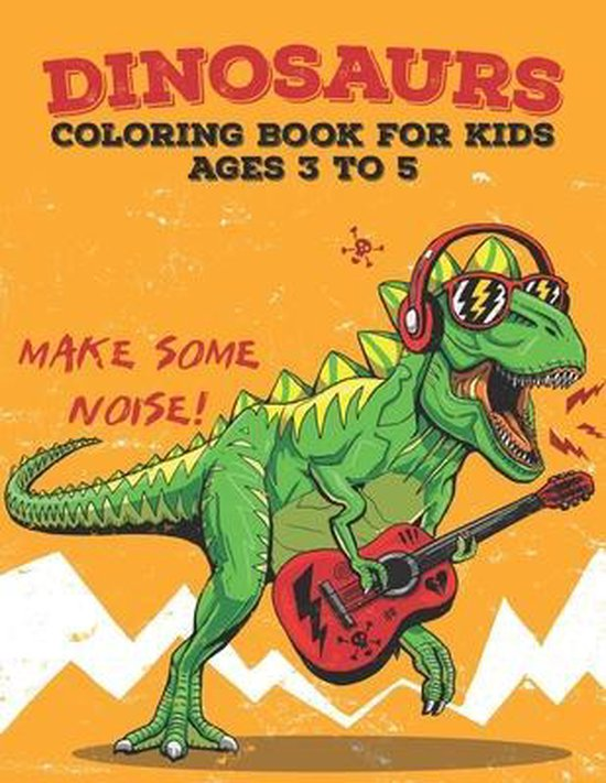 Dinosaur Coloring Book For Kids Ages 3 to 5