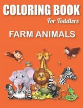Coloring Book for Toddlers Farm Animals