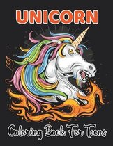 Unicorn Coloring Book for Teens
