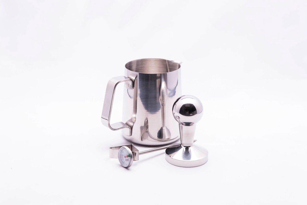 CasaBarista BaristaSet Inox - BaristaSet - Tamper - Melkkan - Thermometer Melkkan - Barista Accessoires