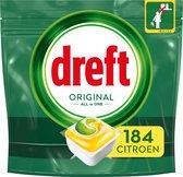 Bol.com-Dreft Original All In One Lemon - Voordeelverpakking 4x46 stuks - Vaatwastabletten-aanbieding