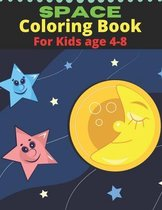 Space Coloring Book For Kids Age 4-8