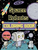 Space Robots Coloring Book For Kids