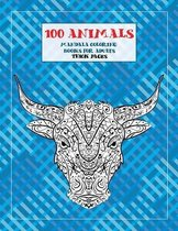 Mandala Coloring Books for Adults Thick pages - 100 Animals