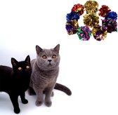 Make Me Purr Krinkel Knisper Propjes Gekleurd (10 stuks) - Kattenspeeltjes - Kattenspeelgoed - Speelgoed voor Katten Ballen - Kat Speeltje Bal - Kitten Speeltjes Balletjes
