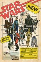Star Wars poster Darth Vader-Boba Fett-Yoda formaat 61 x 91.5 cm.