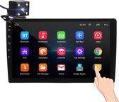 Universele Autoradio met Bluetooth, USB & Youtube - Navigatie - Handsfree Radio met Microfoon - Android met Google Play -10.1inch HD Touchscreen - GRATIS Achteruitrijcamera