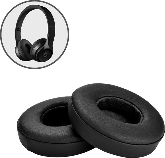 Oorkussens voor Beats By Dr. Dre Solo 2.0/3.0 wireless - Koptelefoon oorkussens voor Beats Solo zwart