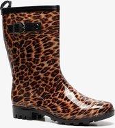 Dames regenlaarzen met luipaardprint - Zwart - Maat 40