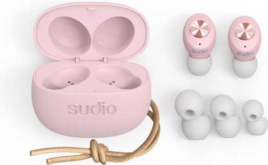 Sudio Tolv True Draadloze In-Ear Mic - Roze