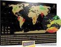 Your Adventure World Scratchmap wereldkaart XL (84 x 59.4cm) - Kras Wereldkaart Poster - Educatief Speelgoed - Wereldkaart wanddecoratie Scratchmap - Wereldkaart kraskaart