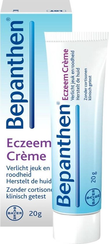 Bepanthen Eczeem Crème verlicht jeuk en roodheid bij mild tot matig eczeem, 20 gram