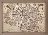 Houten stadskaart van Utrecht