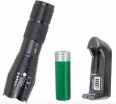 LED zaklamp torch 18650 zoom waterproof XM-L T6 3800LM 5 Zoomable / 3.7V accu