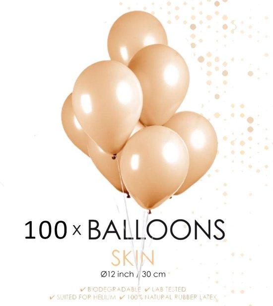 100 ballonnen ivoor 12 inch.