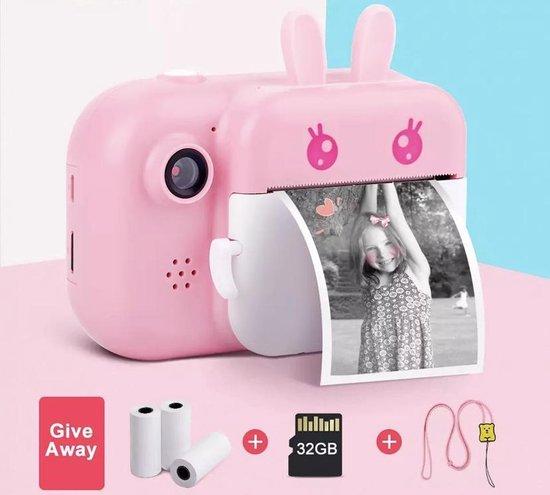 4 in1 Digitale kindercamera 24MP HD Dual Lens 1080p / Instant Print / Selfie Video - Roze