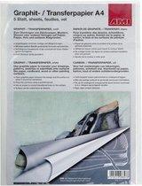Afbeelding van AMI Grafietpapier A4, 5vel, wit speelgoed