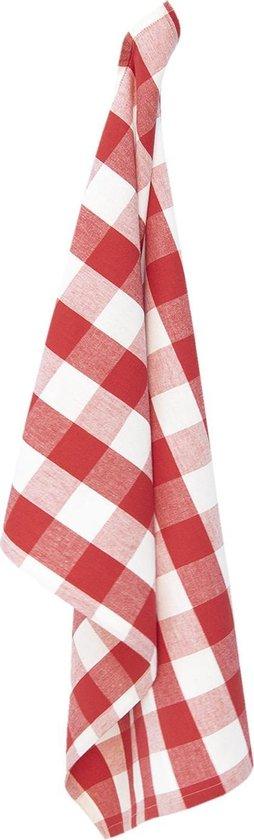 Clayre & Eef Theedoek CFA42CR 50*70 cm - Rood 100% Katoen Vaatdoek Keukendoek Schotelvod