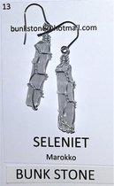 Seleniet- 100% Natuurlijke Edelsteen - Oorbellen- Bunkstone - Gratis verzending