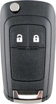 Opel sleutel 2 knoppen HU100 klapsleutel voor Opel Astra Corsa Zafira Insignia Adam Cascada sleutelbehuizing - Autosleutel