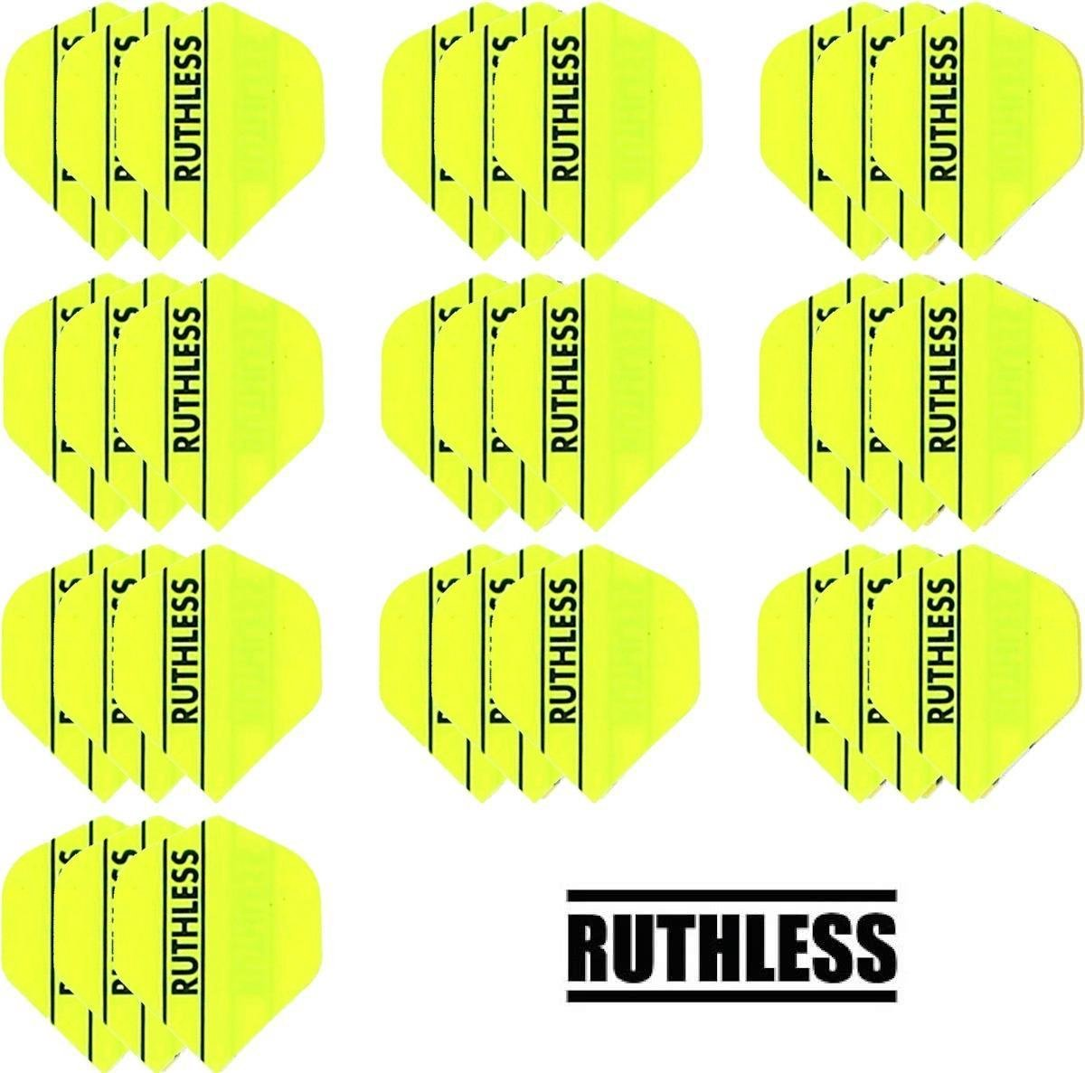 10 sets (30 stuks) Ruthless Flights Multipack Fluro Yellow