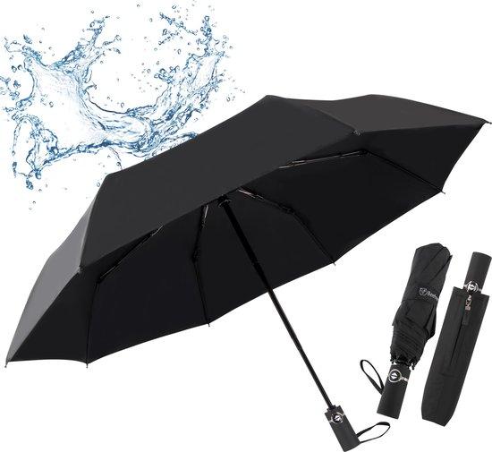 Beefree 100% glasvezel duurzame paraplu 103cm Incl. UV bescherming - zwart