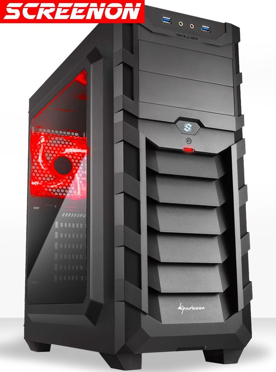 ScreenOn – AMD Ryzen 5 3600 Allround Game Computer / Gaming PC – Geforce GTX 1050 Ti 4GB – 16GB RAM – 240GB SSD – 1TB HDD – Windows 10