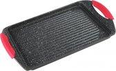 Kinghoff 1367 - grillpan - grillplaat  - 42x27 cm - marble coating - inductie