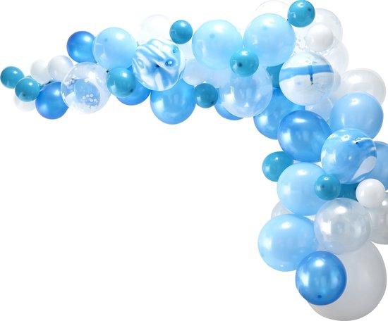 BALLONNENBOOG Blauw 70-DELIG / BALLONNEN DECORATIE / FEEST / BALLONNEN GINGER RAY