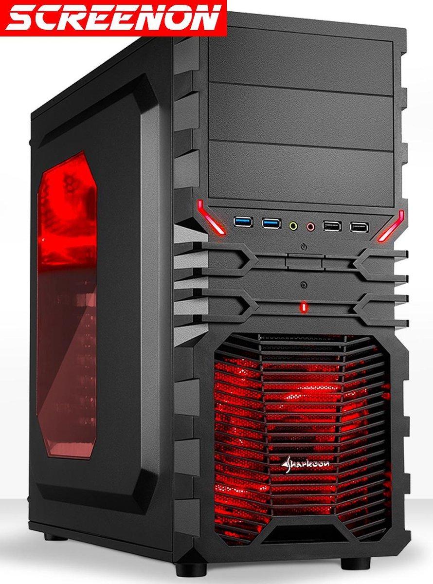 "ScreenON - ""SSD""-480GB Game PC (Fortnite) - Gaming Computer - AMD Ryzen 3 3200G"