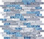 Natuursteen Mozaiek Grijs/Bluaw - 30 x 30 cm