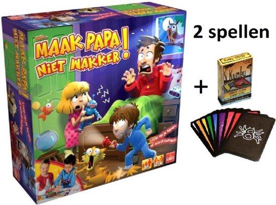 Afbeelding van het spel Sshh Maak papa niet wakker + Kumbu Kaartspel - Dubbel zo leuk & spannend - partyspel - gezelschapsspel - educatief spel - Verbetert het geheugen & rekenvaardigheid - vd makers v Speelgoed vh jaar 2018 -spellen kinderen - Shhh Maak papa niet wakker