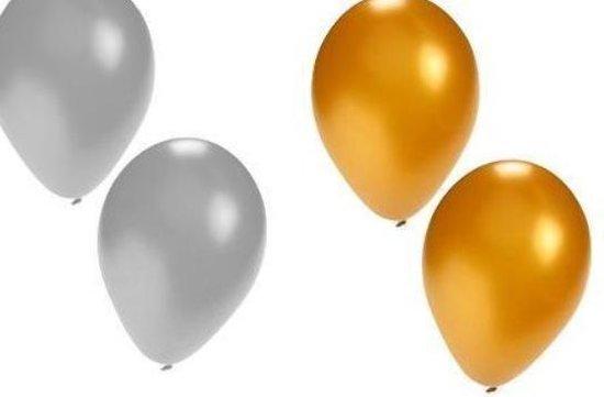 Ballonnen Goud - Zilver - Paars / Lila | Glossy | Effen | 10 stuks | Baby Shower - Kraamfeest - Verjaardag - Geboorte - Fotoshoot - Wedding - Marriage - Birthday - Party - Feest - Huwelijk - Jubileum - Event - Decoratie | Traktatie - Versiering