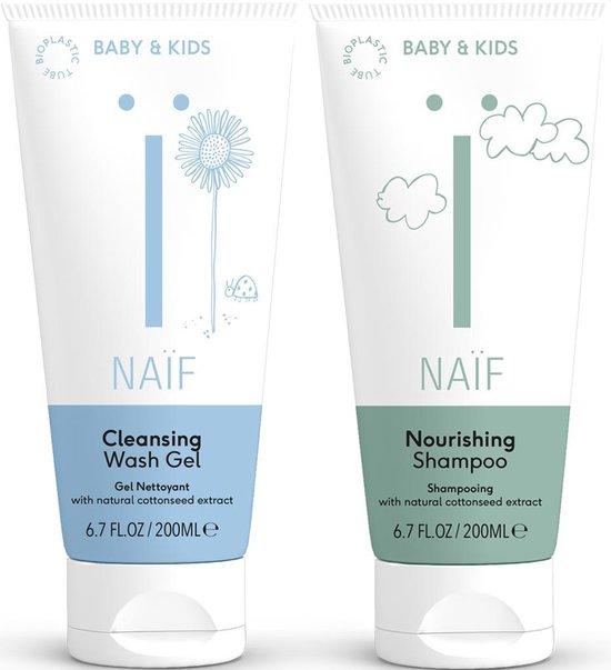 Naïf - voordeelverpakking - natuurlijke baby wasgel & shampoo - 2 x 200 ml